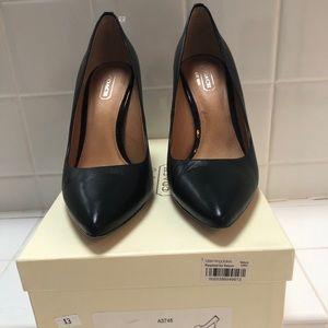 Coach black heels